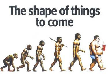 human evolution to fat